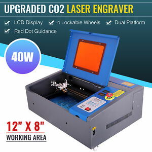 40w Laser Engraver Engraving Cutting Cutter Machine Red Dot Guidance 12 x 8