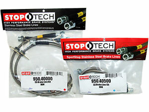 Stoptech Stainless Steel Braided Brake Lines front Rear Set 40000 40500