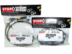 Stoptech Stainless Steel Braided Brake Lines front Rear Set 40000 40504