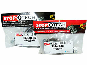Stoptech Stainless Steel Braided Brake Lines Front Rear Set 40007 40500