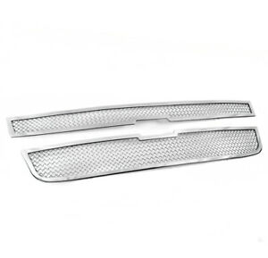 2004 2012 Chevy Colorado Main Chrome Stainless Upper Mesh Grille Grill Insert