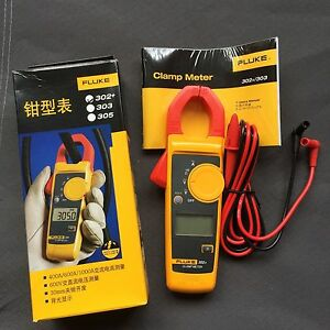 New Fluke 302 Digital Clamp Meter Ac dc Multimeter Electronic Tester 1pc