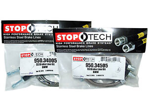 Stoptech Stainless Steel Braided Brake Lines front Rear Set 34005 34505
