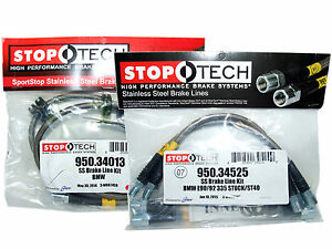 Stoptech Stainless Steel Braided Brake Lines front Rear Set 34013 34525