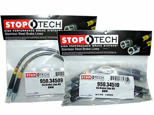 Stoptech Stainless Steel Braided Brake Lines Front Rear Set 34509 34510