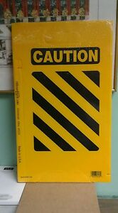 Caution Sign Do Not Enter 19 X 11 Yellow Foldable