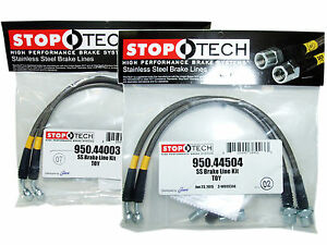 Stoptech Stainless Steel Braided Brake Lines front Rear Set 44003 44504