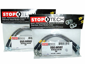 Stoptech Stainless Steel Braided Brake Lines front Rear Set 44007 44507