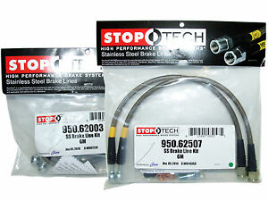 Stoptech Stainless Steel Braided Brake Lines front Rear Set 62003 62507
