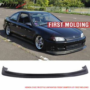Fits 92 95 Honda Civic 2dr 3dr Dp First Molding Style Front Bumper Lip Spoiler