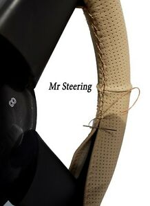 For Volvo 740 84 92 Best Quality Beige Perforated Leather Steering Wheel Cover