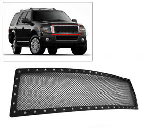 Ford 2007 2014 Expedition Main Upper Stainless Steel Rivet Mesh Grille Grill New