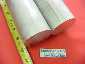 2 Pieces 2 1 2 Aluminum Round Rod 10 Long 6061 T6 Solid 2 5 Diameter Bar Stock