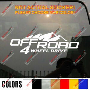 4x4 Off Road 4wd Decal Sticker Car Vinyl Pick Size Color No Bkgrd Die Cut
