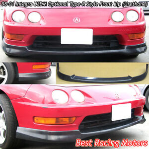 Usdm Type R Style Front Bumper Lip Urethane Fits 98 01 Acura Integra 4dr