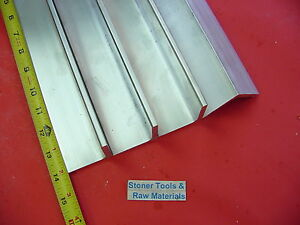4 Pieces 2 x 2 x 1 4 Aluminum 6061 Angle Bar 14 Long T6 Extruded Mill Stock