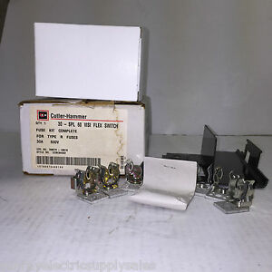 Cutler Hammer Eaton 1226c94g02 600v 30a Type R Fuse Kit Visiflex Switch new