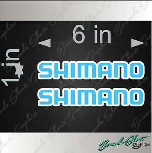 Shimano Fishing Pair 6 Vinyl Vehicle Logo Decals Reels Tackle Gear Stickers