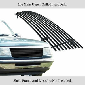 Fits 93 97 Ford Ranger Black Main Upper Billet Grille Insert