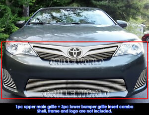 Aluminum Billet Grille Combo For 2012 2014 Toyota Camry