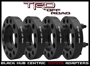 4 Pc Toyota 1 25 Thick Hub Centric Wheel Spacers Tacoma Tundra 4 Runner Black
