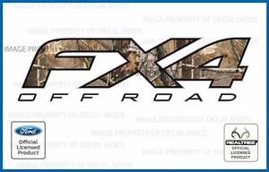 Set Of 2 12 13 14 Ford F150 Fx4 Off Road Decals Realtree Ap Stickers Camo