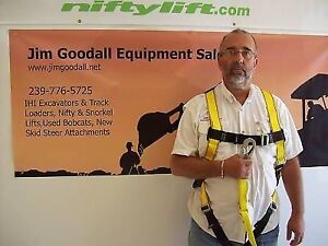 Boom Lift Safety Harness With Lanyard osha Requirement For Any Lift Deluxe
