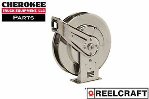 Reelcraft 7800 Oms s 50 Spring Retractable Ss Oil Hose Reel For 1 2 Hose