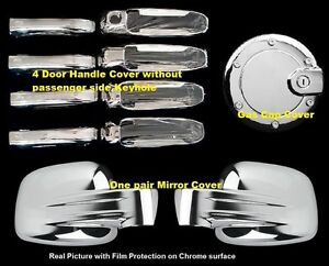 For Jeep Liberty 2002 2006 2007 Chrome Covers Set Full Mirrors 4 Doors W o gas