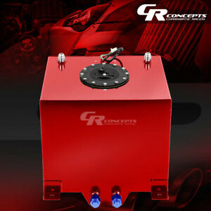 5 Gallon Red Coated Universal Racing drifting Fuel Cell Gas Tank level Sender
