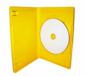 500 Standard Solid Yellow Color Single Dvd Cases