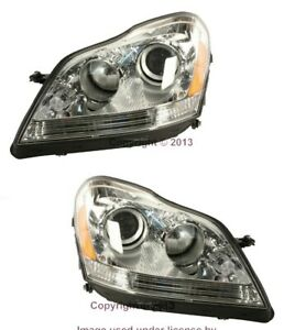Oe Hella Left right Headlight Headlamp Assembly Set Witout Xenon For Mercedes Gl