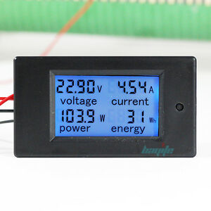 100a Dc Digital Watt Kwh Current Power Energy Meter Ammeter Voltmeter 7 100v Us
