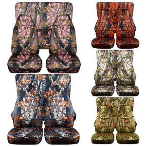 Cc Fit Tj Jeep Wrangler Front And Rear Seat Covers Choice In Camouflage