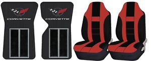 New Custom Rubber Carpet Floor Mats Universal Seat Covers For Corvette C3 68 82