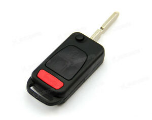 3 Button Remote Flip Folding Key Shell Case For Mercedes Benz Slk Class 98 04 3b
