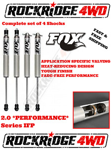 Fox Ifp 2 0 Performance Series Shocks For 03 13 Dodge Ram 3 4 Ton W 8 Of Lift