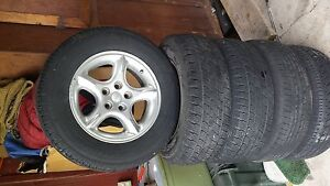 60th Anniversary Jeep Rims 16 Inch In Great Shape With Good Tires