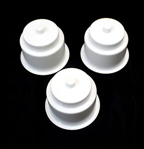 3 Pack Of 3 5 8 Universal White Plastic Cup Holder Jumbo Cup Holder Drain Hole