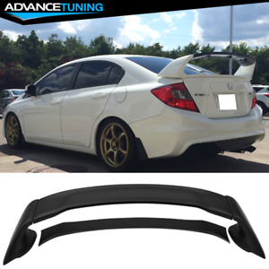 Fits 12 15 Honda Civic Mugen Style Trunk Spoiler Unpainted 4pcs Abs