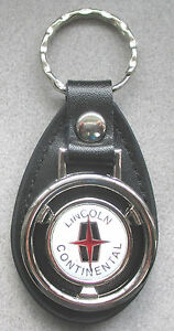 White Lincoln Continental Mini Steering Wheel Leather Keyring 1942 1943 1944