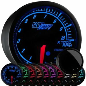 Glowshift Elite 10 Color Tachometer Gauge Free Warning Light