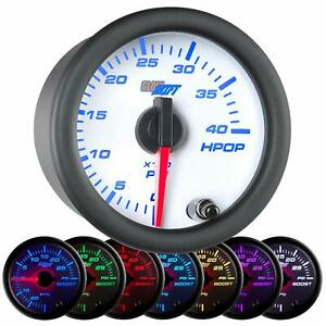 Glowshift White 7 Color High Pressure Oil Pressure Hpop Gauge 0 To 4 000 Psi