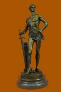 Royal Prince Roman Naked Figurine Collectible Bronze Sculpture Handcrafted Art