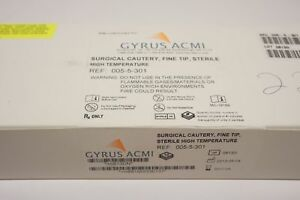 Gyrus Acmi 005 5 301 Surgical Cautery Fine Tip Sterile Box Of 10