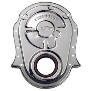 Proform Engine Timing Cover 141 216 Gm Performance Chrome Steel For Chevy Bbc