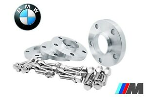 4 Pc Bmw 10mm 15mm Hub Centric Wheel Spacers Plus 20 Conical Lug Bolts Chrome