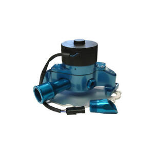 Proform Water Pump 68220b 35 Gpm Blue Powdercoat Aluminum Electric For Ford Sbf