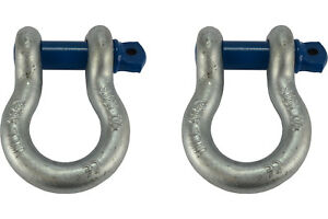 2 Lot 1 1 8 D Ring Bow Shackle Screw Pin Clevis Rigging Jeep Towing 9 5 Ton