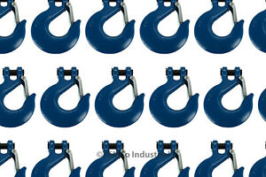 25x 3 4 Chain Slip Safety Latch Hook Clevis Rigging Tow Winch Trailer Grade 70